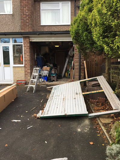 Broken Garage Door Replaced Fullwood Sheffield