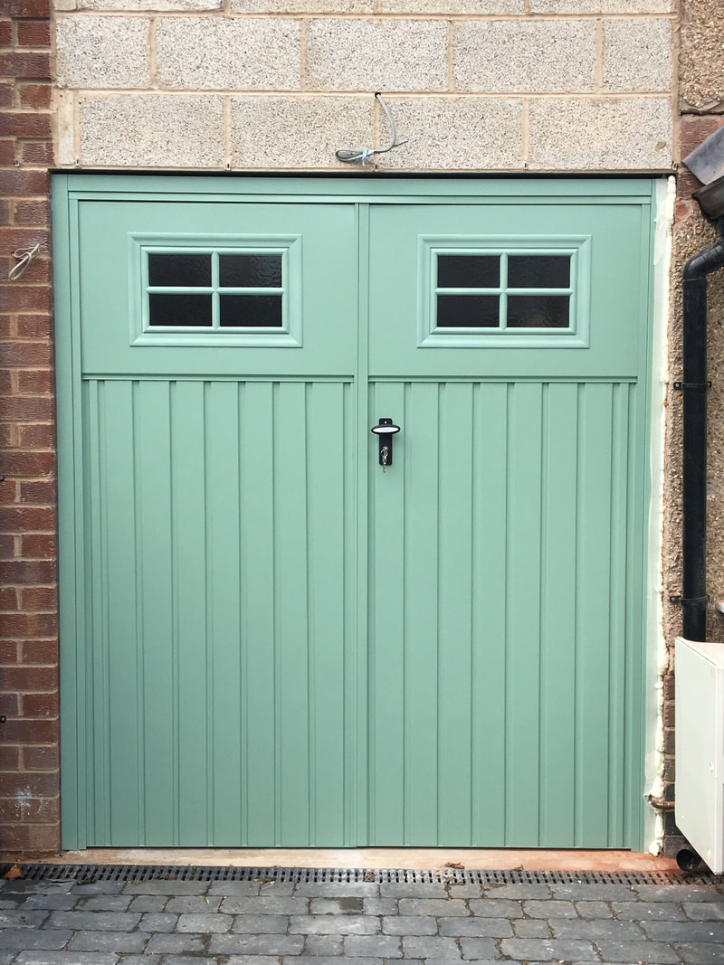 after painted garage doors installed Sheffield