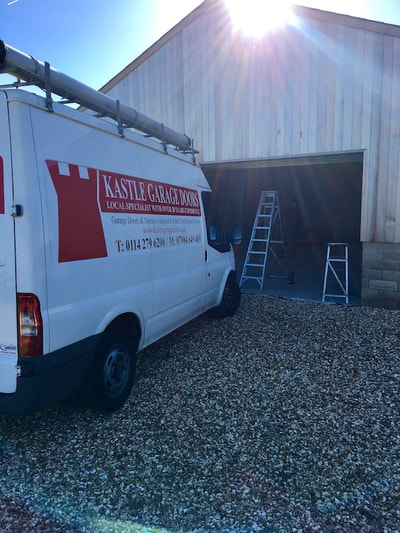 insulated garage door installation in Sheffield